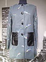 Пальто женское кашемир весна-осень серого цвета