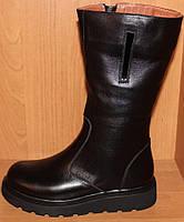 Детские сапоги высокие кожаные зимние, кожаная детская обувь зимняя от производителя модель Д028-1