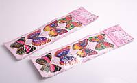 """Наклейки декоративные """"Бабочки"""", 4 шт., планшет: 12х33 см"""