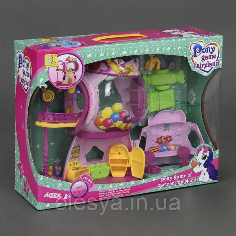 Домик Пони 2388 (12/2) на батарейках, в коробке, My Little Pony