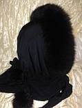 Капор с чёрным мехом песца, фото 3