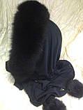 Капор с чёрным мехом песца, фото 5