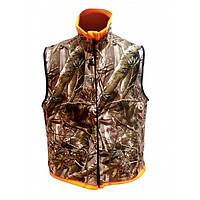 Жилет-Безрукавка двусторонний мужская для рыбалки и охоты Norfin Huntingh Reversable Vest Passion/Orange