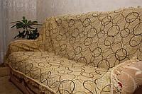 """Покрывала полутороспальные на кровать """"Люрекс круги"""""""