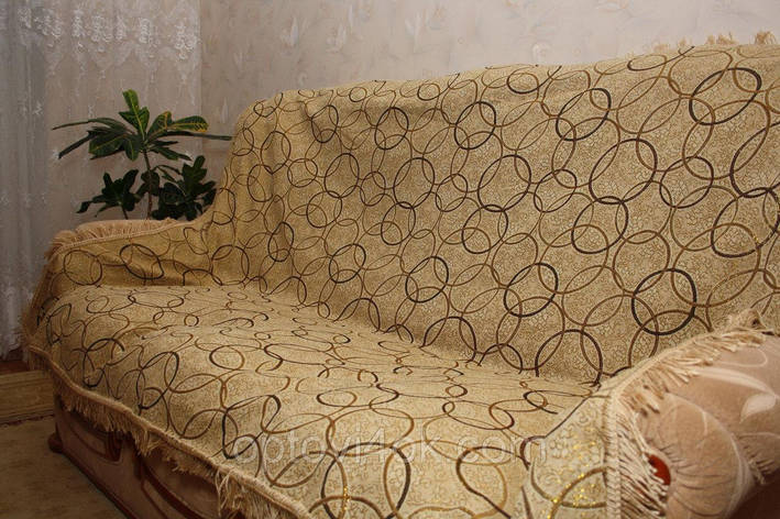 Покрывала полутороспальные на кровать Люрекс круги, фото 2
