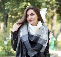 Женский шарф Серо-белый