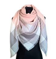 Женский шарф Розово-белый