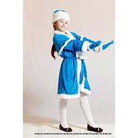 Новогодний карнавальный костюм Снегурочка детская