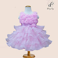 """Вечернее платье для девочек """"Лиана"""". В нежно-розовом цвете."""