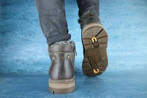 Мужские зимние ботинки Westland кожаные,коричневые, фото 2