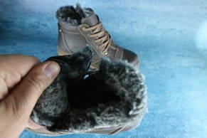 Мужские зимние ботинки Westland кожаные,коричневые, фото 3