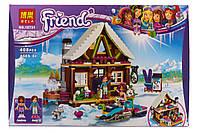 Конструктор Bela Friends / Подружки 10731 Горнолыжный курорт: шале (аналог Lego Friends 41323)