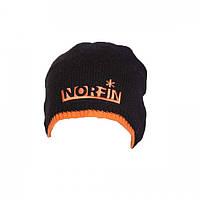Шапка вязаная зимняя, ветроустойчивая и дышащая для охоты и рыбалки Norfin чёрная