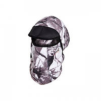 Шапка-маска с козырьком зимняя-непродуваемая Norfin Hunting White ветроустойчивая и дышащая для охоты