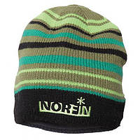 Шапка вязаная Norfin (зелёная в полоску) 302772-DG-L