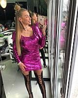 """Платье Doratti красивое нарядное """"Рыбка"""" стрейчевая переливающаяся пайетка разные цвета SMdor2055"""