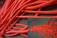 Шнур-резинка шляпная, красного цвета, 1 мм.