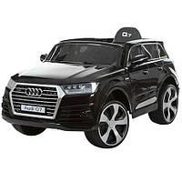 Электромобиль детский Audi Q7 JJ2188 EBLR-2 черный  с ЕВА колесами,кожаное сиденье