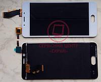 Дисплейний модуль для телефону Meizu U10 в зборі з тачскріном білий