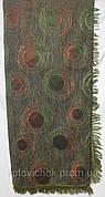 Турин гобеленовое покрывало (дивандек) зеленого цвета