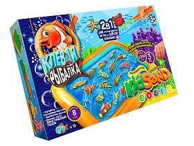 """Гра 2 в 1 """"Кльова рибалка і Кінетичний пісок"""" 1200 грам Danco Toys KRKS-01-01"""