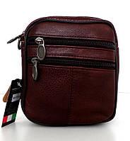 Мужская сумка через плечо. Натуральная кожа. Коричневый, фото 1