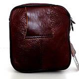 Мужская сумка через плечо. Натуральная кожа. Коричневый, фото 3