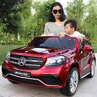 Лицензионный детский электромобиль Mercedes M 3565EBLRS-3 красный в автопокраске с Ева колесами