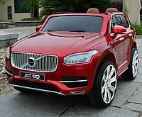 Детский электромобиль Джип VOLVO M 3278 EBLRS-3 с кожаным сиденьем, красный***