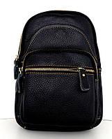 Мужская сумка - планшет через плечо. Натуральная кожа. Черная, фото 1