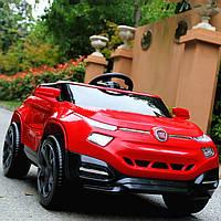 Детский электромобиль M 3292 EBLR-3 на резиновых ЕВА колёсах, с кожаным сиденьем, красный***