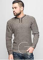 Мужской теплый свитер- коричневый
