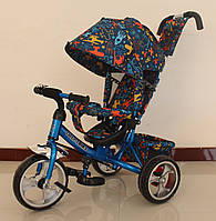 Велосипед трехколесный TILLY Trike T-344-3 EVA колеса, голубой