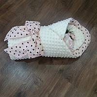 Конверт-плед для новорожденных 90×90 (зимний)