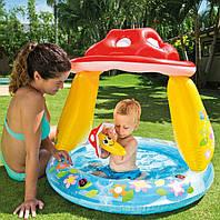 Надувной детский бассейн с навесом «Грибок» Intex 57114 (102х89 см) HN