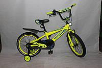 Велосипед детский двухколёсный 14 дюймов Azimut STONE CROSSER-5 желтый