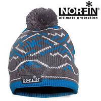 Шапка вязанная (подкладка флис) Norfin NORWAY WOMEN Gray/blue 305755-L