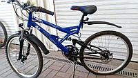 Горный подростковый велосипед 24 дюйма Azimut Rock  126-FR синий