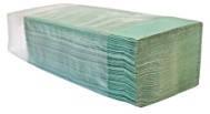 """Бумажные полотенца зелёные V – образного сложения для диспенсеров """"Green ix"""""""