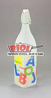 Копия Бутылка для подачи напитков 1л стеклянная квадратная матовая с бугельной крышкой БУКВЫ Empire EM-1873-5