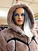 Женская шуба модная из бобра-бобрика рекса больших размеров