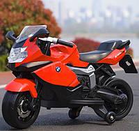 Детский электромотоцикл T-7216 RED мотоцикл, BMW, красный