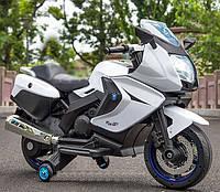 Детский электромотоцикл T-7214 WHITE белый