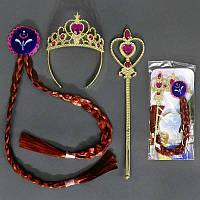 Аксессуары для девочки, корона, коса, волшебная палочка