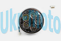 "Фара светодиодная круглая (крепеж 180mm, синяя подсветка, пластик) ""Feili"""