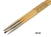 Набор кистей с деревянной ручкой для рисования Yre Nk-06