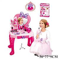 Детский туалетный столик V95808  зеркало,  стульчик,  фен,  аксессуары  в коробке 76*9*50 см.
