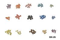 Цветы для декора ногтей разноцветные 10 шт\уп, декор YRE DK-26, материалы для дизайна ногтей