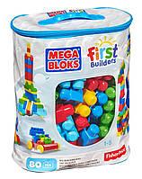 """Конструктор MEGA BLOKS """"Первые строители"""" в голубой сумке 80 шт. (DCH63-CYP72)"""