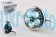 "Фара светодиодная круглая (крепеж 180mm, многоцветная подсветка, пластик) ""Feili"""